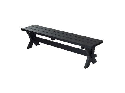 Plus Nostalgi Plankenbank 177 cm schwarz