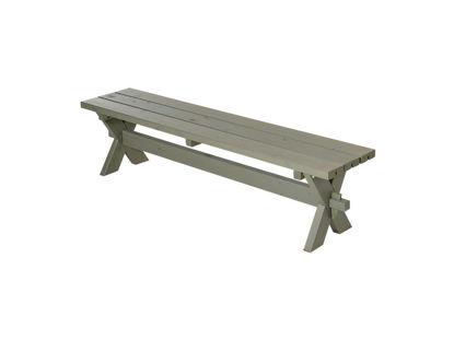 Plus Nostalgi Plankenbank 177 cm graubraun