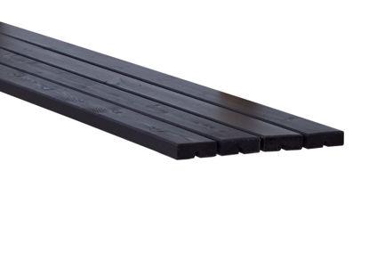 Plus Möbelplanken Set 4 x schwarz 4,2 x 11,6 x 207 cm
