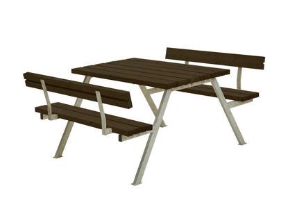 Plus Alpha Kombimöbel mit 2 Rückenlehnen Kiefer-Fichte schwarz 118 x 185 x 73 cm