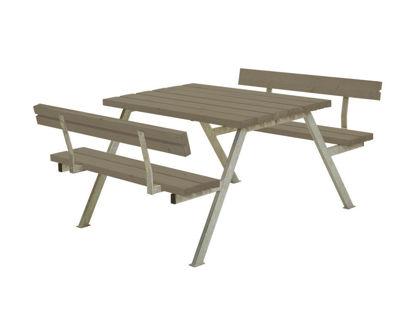 Plus Alpha Kombimöbel mit 2 Rückenlehnen Kiefer-Fichte graubraun 118 x 185 x 73 cm