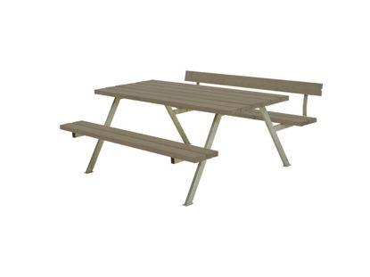 Plus Alpha Kombimöbel mit 1 Rückenlehne Kiefer-Fichte graubraun 177 x 173 x 73 cm