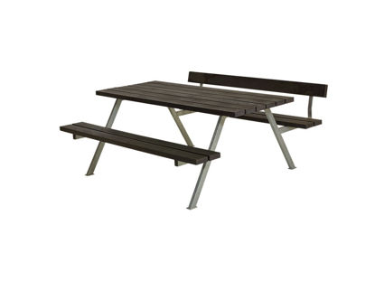 Plus Alpha Kombimöbel mit 1 Rückenlehne Recycling-Kunststoff schwarz 177 x 173 x 73 cm