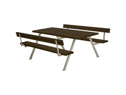 Plus Alpha Kombimöbel mit 2 Rückenlehnen Kiefer-Fichte schwarz 177 x 185 x 73 cm