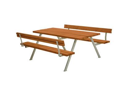 Plus Alpha Kombimöbel mit 2 Rückenlehnen Kiefer-Fichte teakfarben 177 x 185 x 73 cm