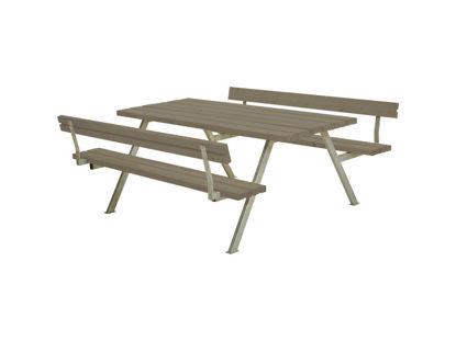 Plus Alpha Kombimöbel mit 2 Rückenlehnen Kiefer-Fichte graubraun 177 x 185 x 73 cm