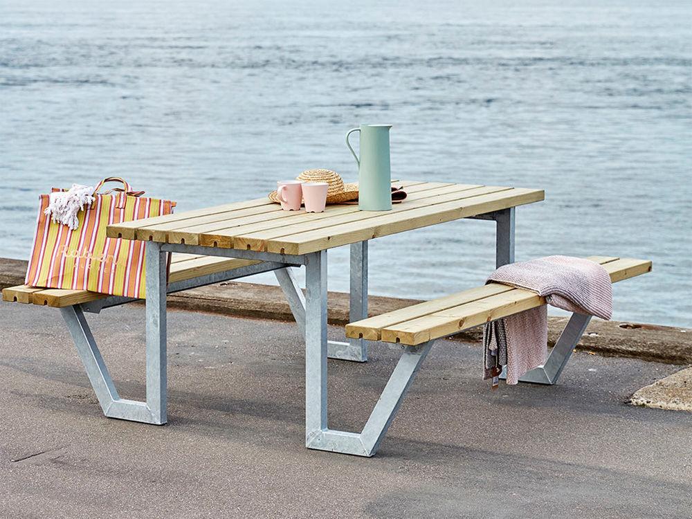 Plus Wega Kombimöbel mit 1 Rückenlehne Kiefer-Fichte teakfarben 177 cm