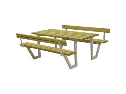 Plus Wega Kombimöbel mit 2 Rückenlehnen Kiefer-Fichte druckimgrägniert 177 cm