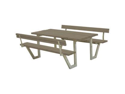 Plus Wega Kombimöbel mit 2 Rückenlehnen Kiefer-Fichte graubraun 177 cm