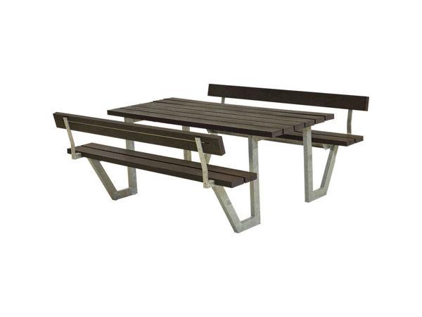 Plus Wega Kombimöbel mit 2 Rückenlehnen Recycling Kunststoff schwarz 177 cm