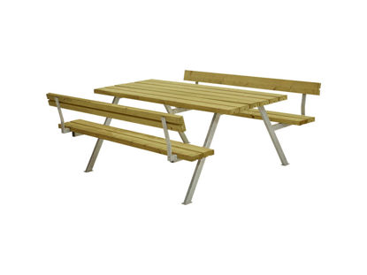 Plus Alpha Kombimöbel mit 2 Rückenlehnen Kiefer-Fichte druckimprägniert 177 x 185 x 73 cm