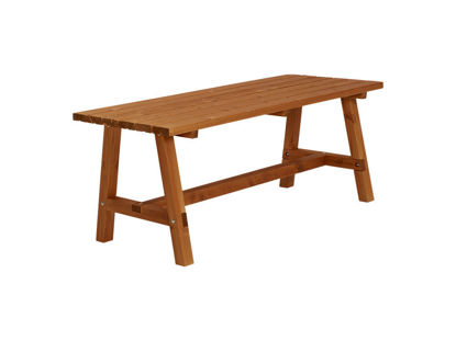 Plus Country Plankentisch 177 cm teakfarben