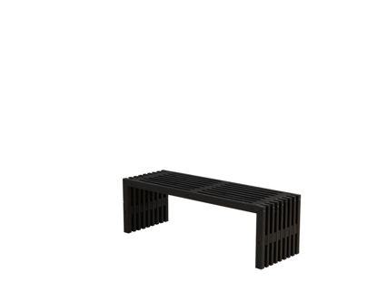 Plus Rustik Trallebank Kiefer-Fichte schwarz 138 cm