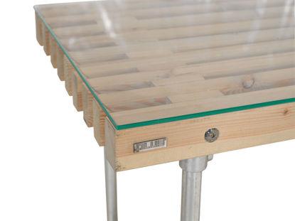 Plus Gehärtete Glasplatte mit poliertem Rand 137,5 x 75,5 für Trallebank
