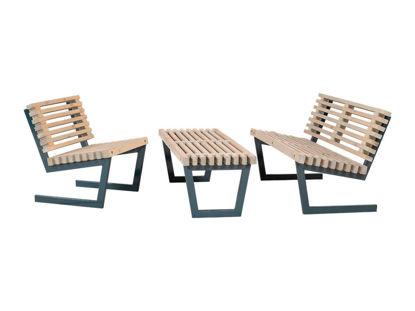 Plus Siesta Loungeset 1 Sessel - Bank - Tisch - Sofa 138 cm