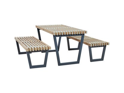 Plus Siesta Garnitur Tisch mit 2 Bänke 138 cm