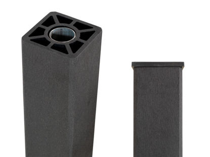 Plus WPC Pfosten mit Stahlkern 9 x 9 x 98 cm schiefergrau