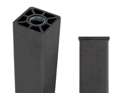 Plus WPC Pfosten mit Stahlkern 9 x 9 x 153 cm schiefergrau