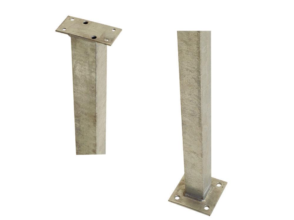 Plus Stahlpfosten quadratisch mit Fuss  4,5 x 4,5 x 103,3 cm für Handlauf