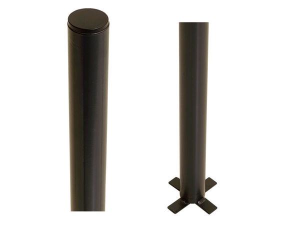 Plus Stahlpfosten rund mit Fuss schwarz 4,2 x 4,2 x 186 cm