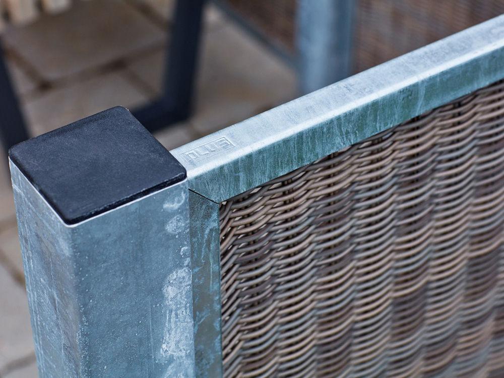 Plus Stahlpfosten verzinkt 8 x 8 x 186 cm Stahlzaun-Pfosten