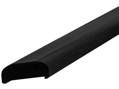 Plus Handlauf aus Kiefer Kernholz 197 cm schwarz, Gehrung links