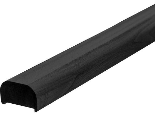 Plus Handlauf aus Kiefer Kernholz 199 cm schwarz