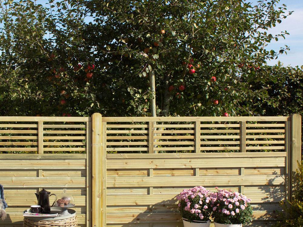 Plus Newline Sichtschutz-Zaun druckimprägniert 180 x 180 cm