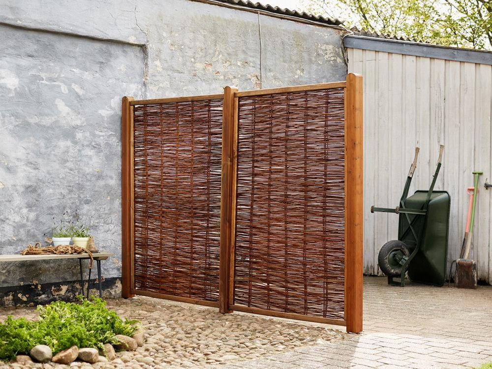 Plus Weidenzaun mit Rahmen 120 x 140 cm
