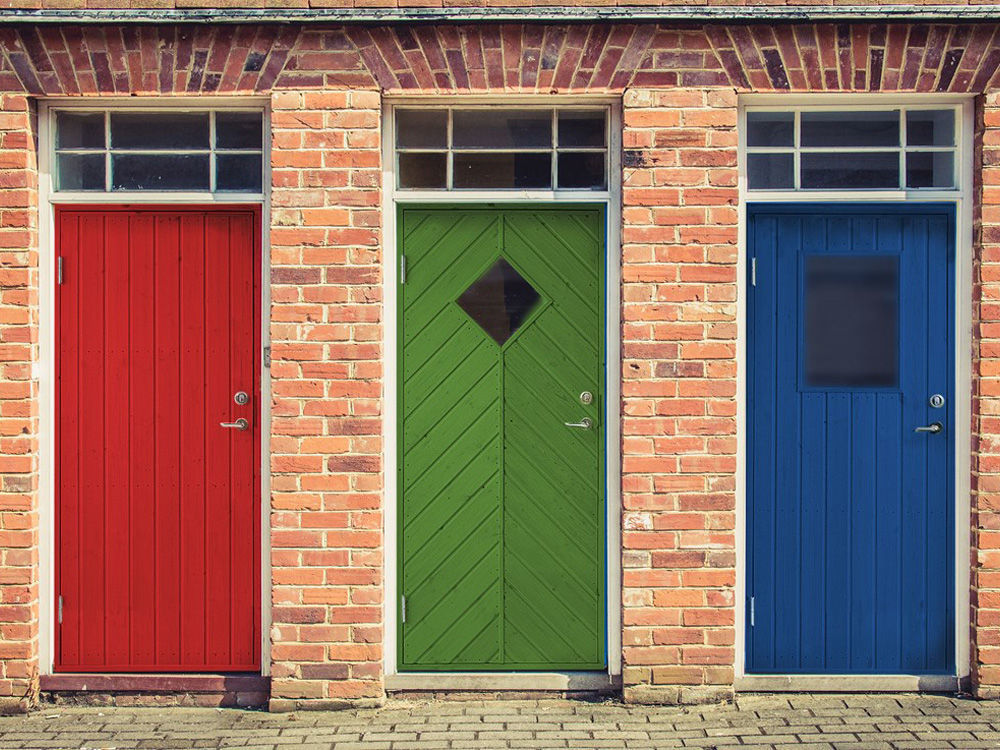 Vibo Nebeneingangstür mit Profilverkleidung und Zarge rechts 78,6 x 187,8 cm