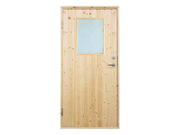 Vibo Nebeneingangstür mit Fenster, Profilverkleidung und Zarge rechts 88,6 x 197,8 cm