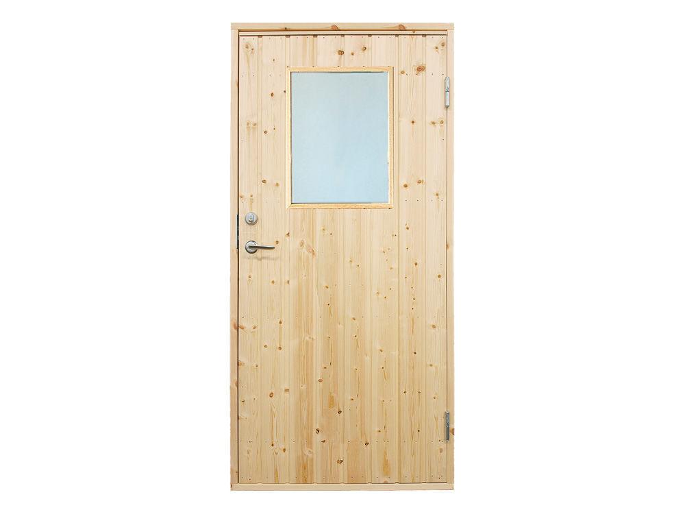 Vibo Nebeneingangstüre mit großem Fenster, Zarge und Rahmen 88,6 x 197,8 cm
