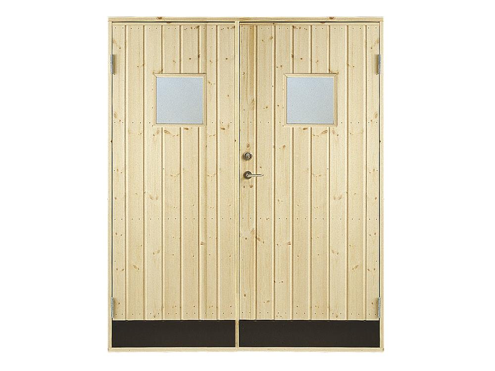 Vibo Doppel-Nebeneingangstür mit Fenster und Zarge 151,2 x 197,8 cm