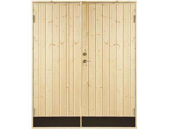 Vibo Doppel-Nebeneingangstür mit Profil und Zarge 151,2 x 197,8 cm
