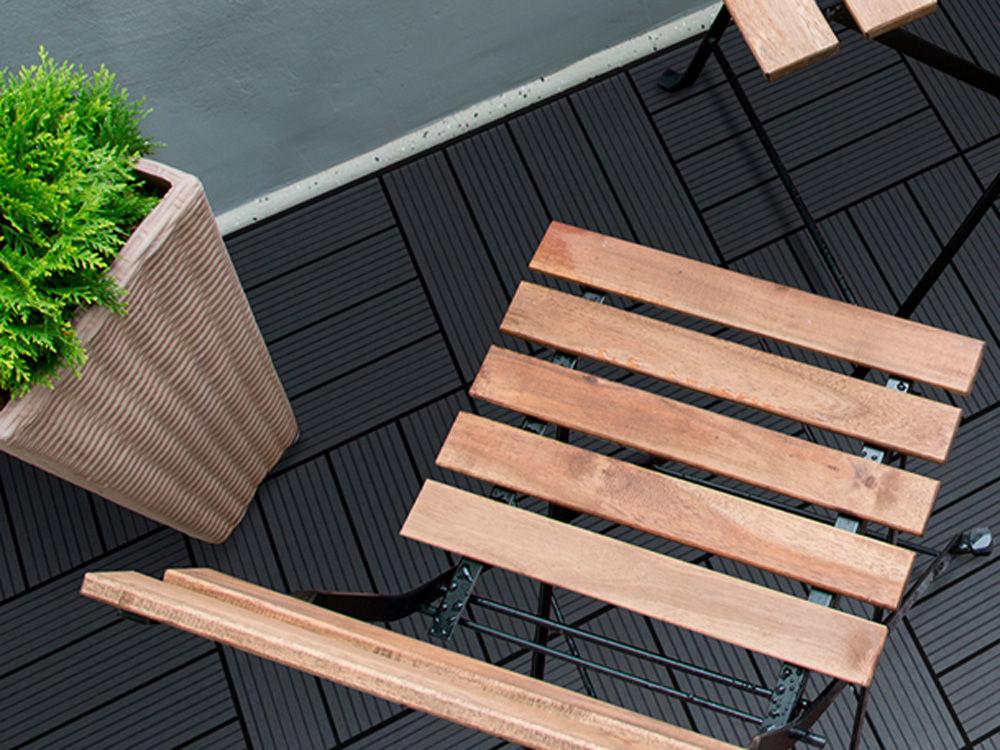 Plus WPC Terrassenfliesen 30 x 30 cm