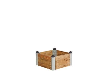 Plus Pipe Hochbeet Lärche unbehandelt 80 x 80 x 36 cm