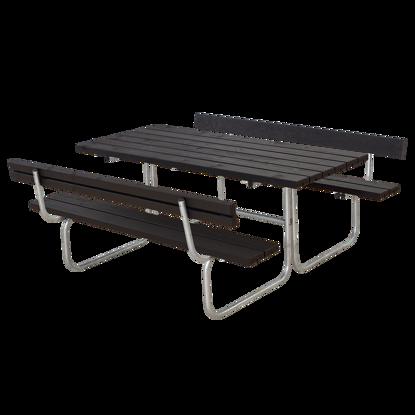 Plus Classic Kombimöbel mit 2 Rückenlehnen Kiefer-Fichte schwarz 177 x 177 cm schöner Designklassiker