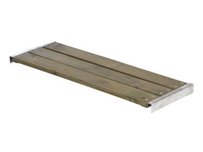 Plus Bank für Cubic - Pipe graubraun mit Beschlägen 50 x 120 cm
