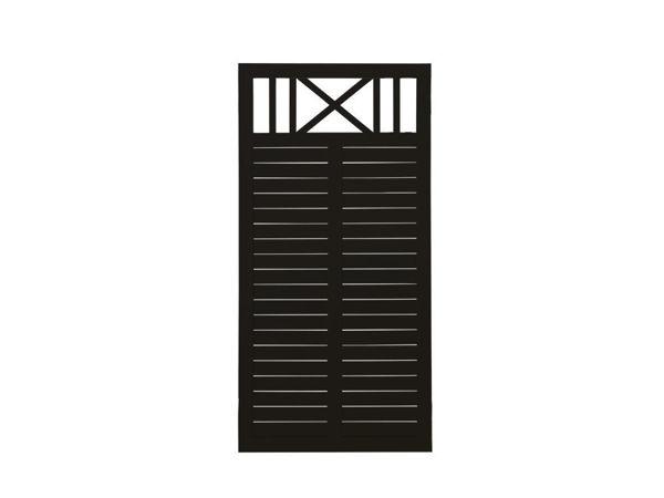 Plus Nostalgi Rankblende 90x180 cm Sichtschutzzaun schwarz